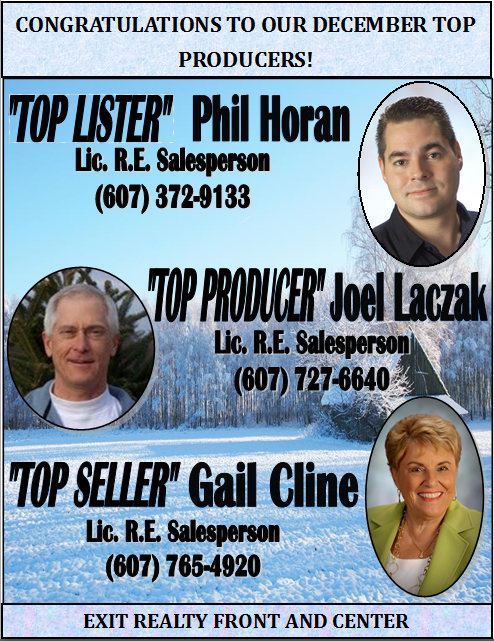 Congratulations to Our December Top Producers!