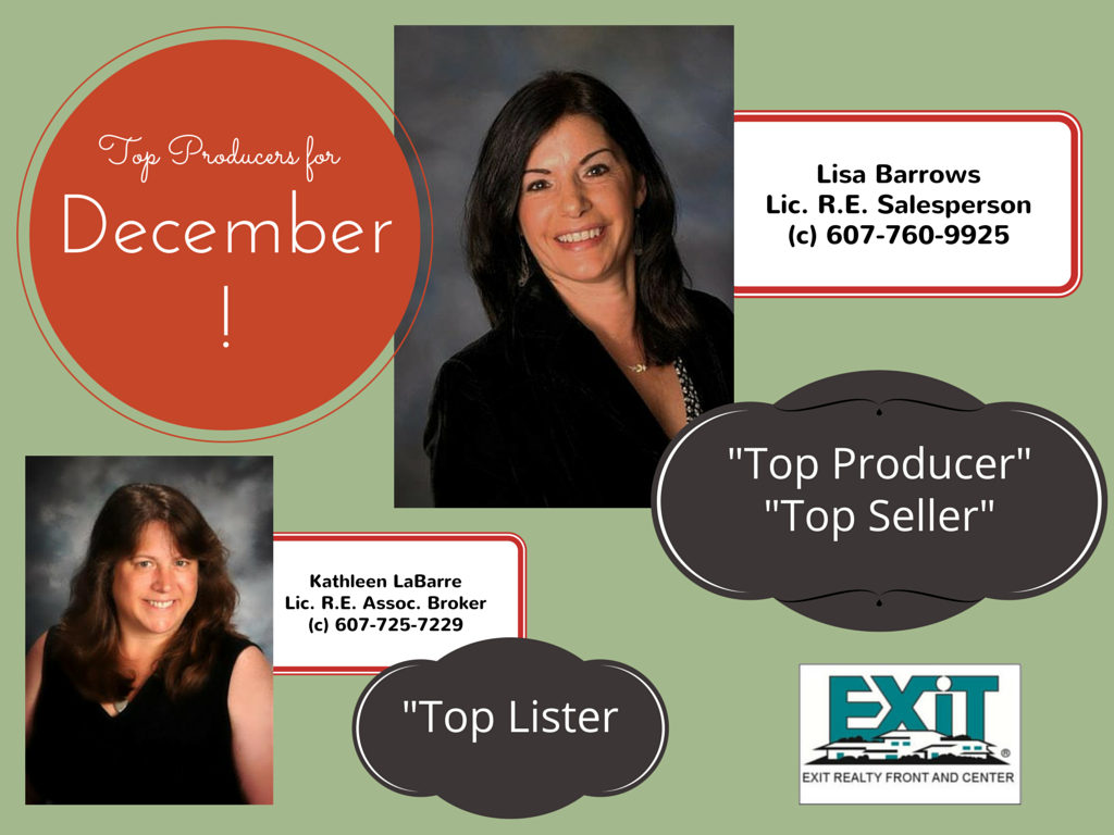 CONGRATULATIONS TO OUR DECEMBER TOP PERFORMERS!