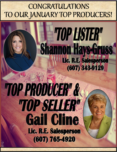 Congratulations to Our January Top Producers!