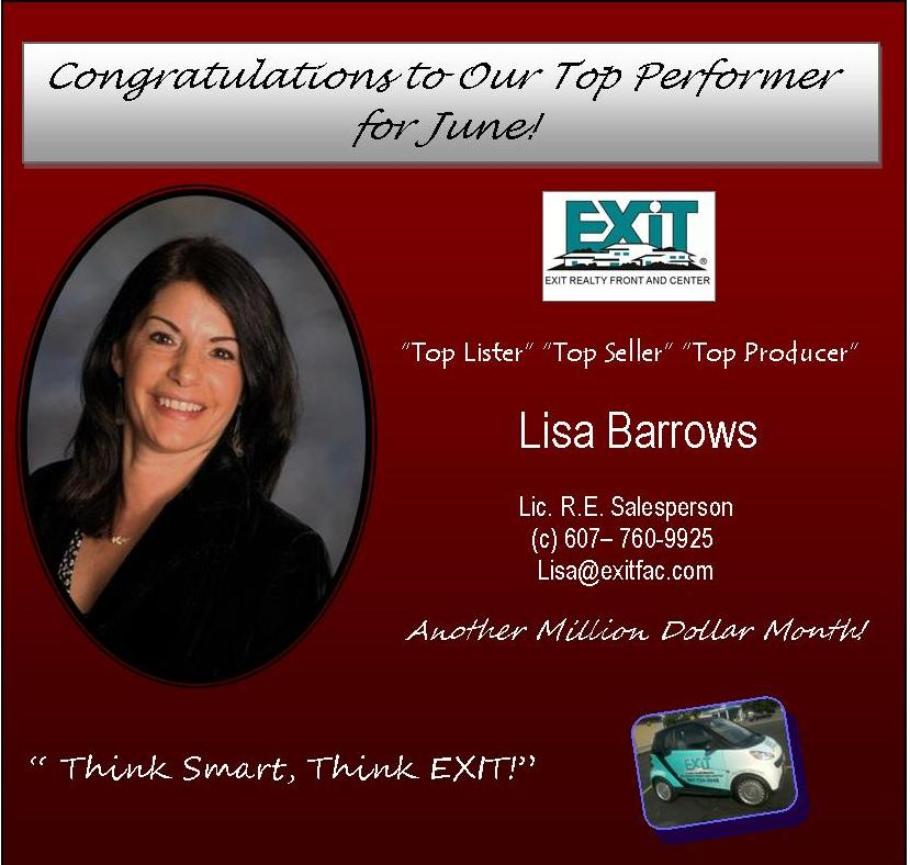 Congratulations Ad for Lisa Barrows