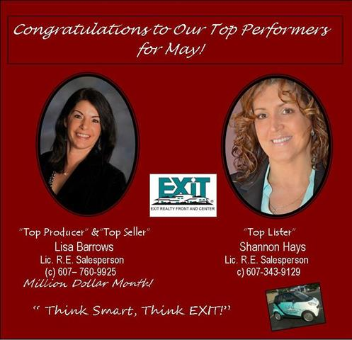 congratulations to our may top performers