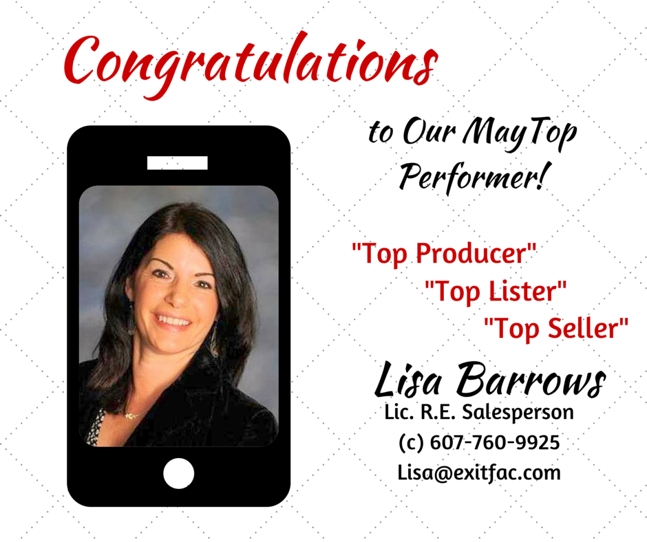 CONGRATULATIONS TO OUR TOP MAY PERFORMER!