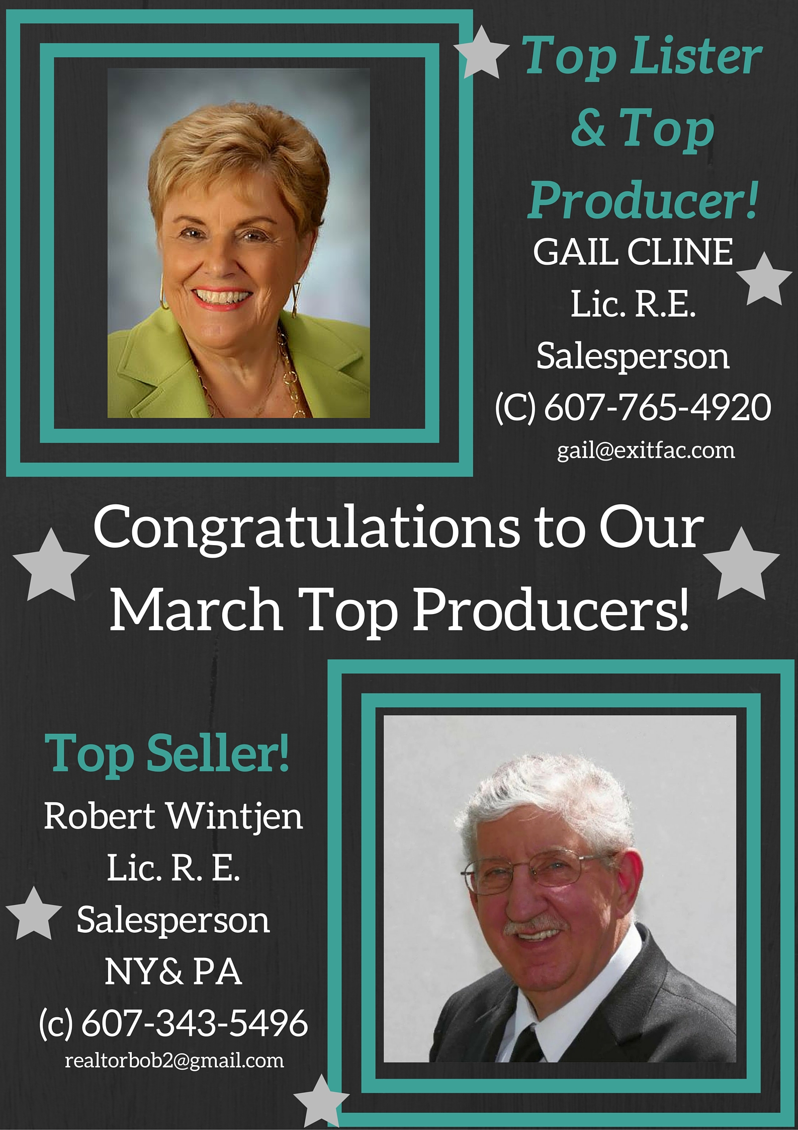 congratulations to our march top producers