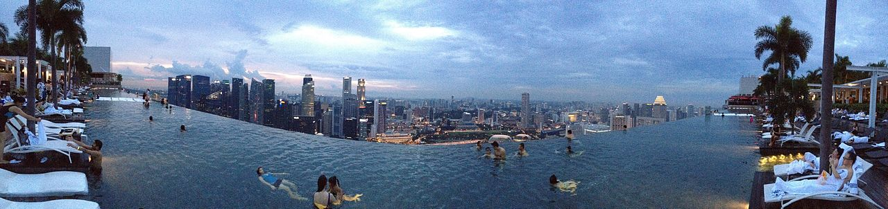 An infinity pool in Marina Bay Sands