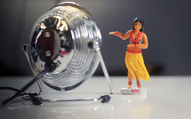 Even plastic figurines can melt in the heat...