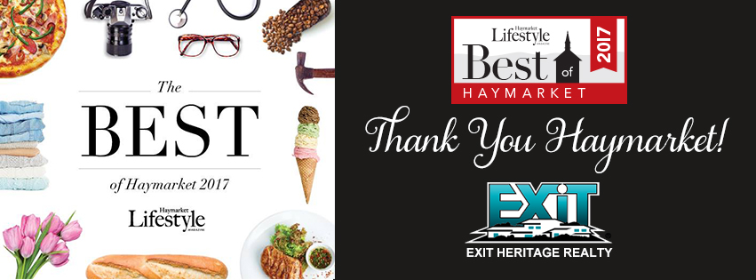 EXIT Heritage Realty Voted Best Real Estate Agency in Haymarket