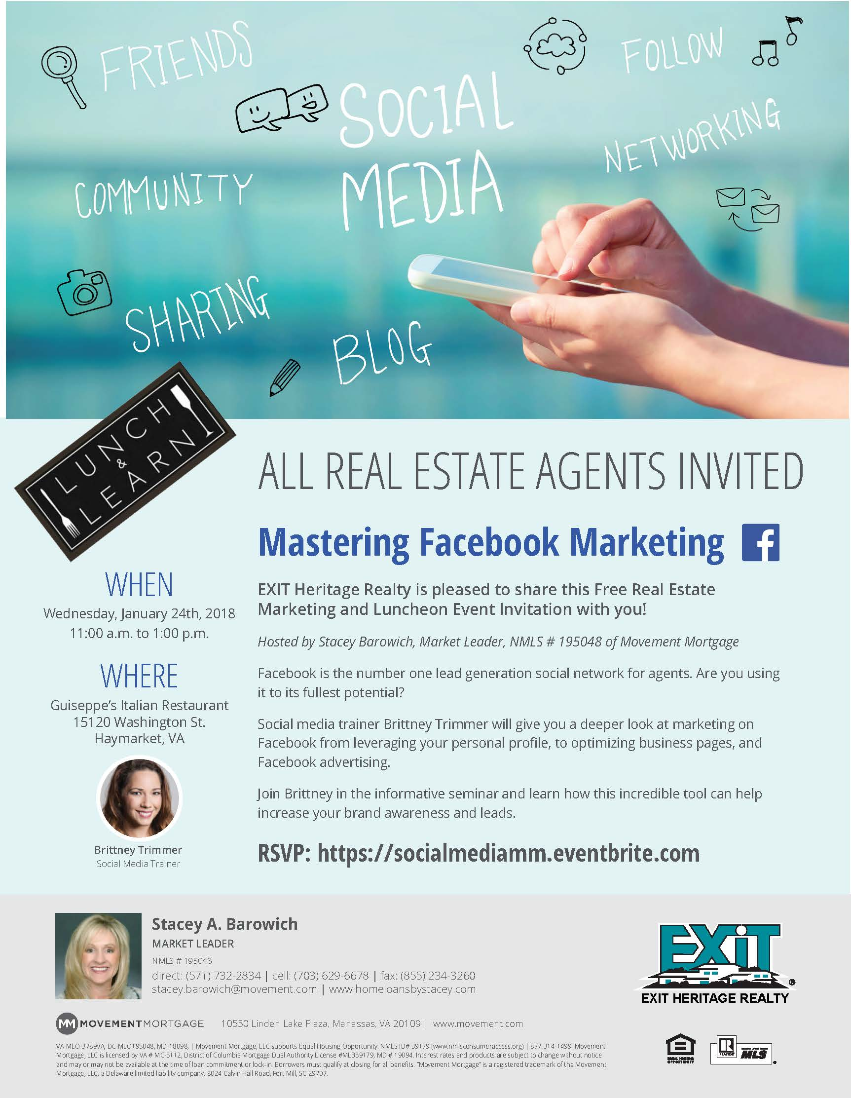 Free Facebook Marketing Seminar for Local Real Estate Agents ~ Haymarket VA