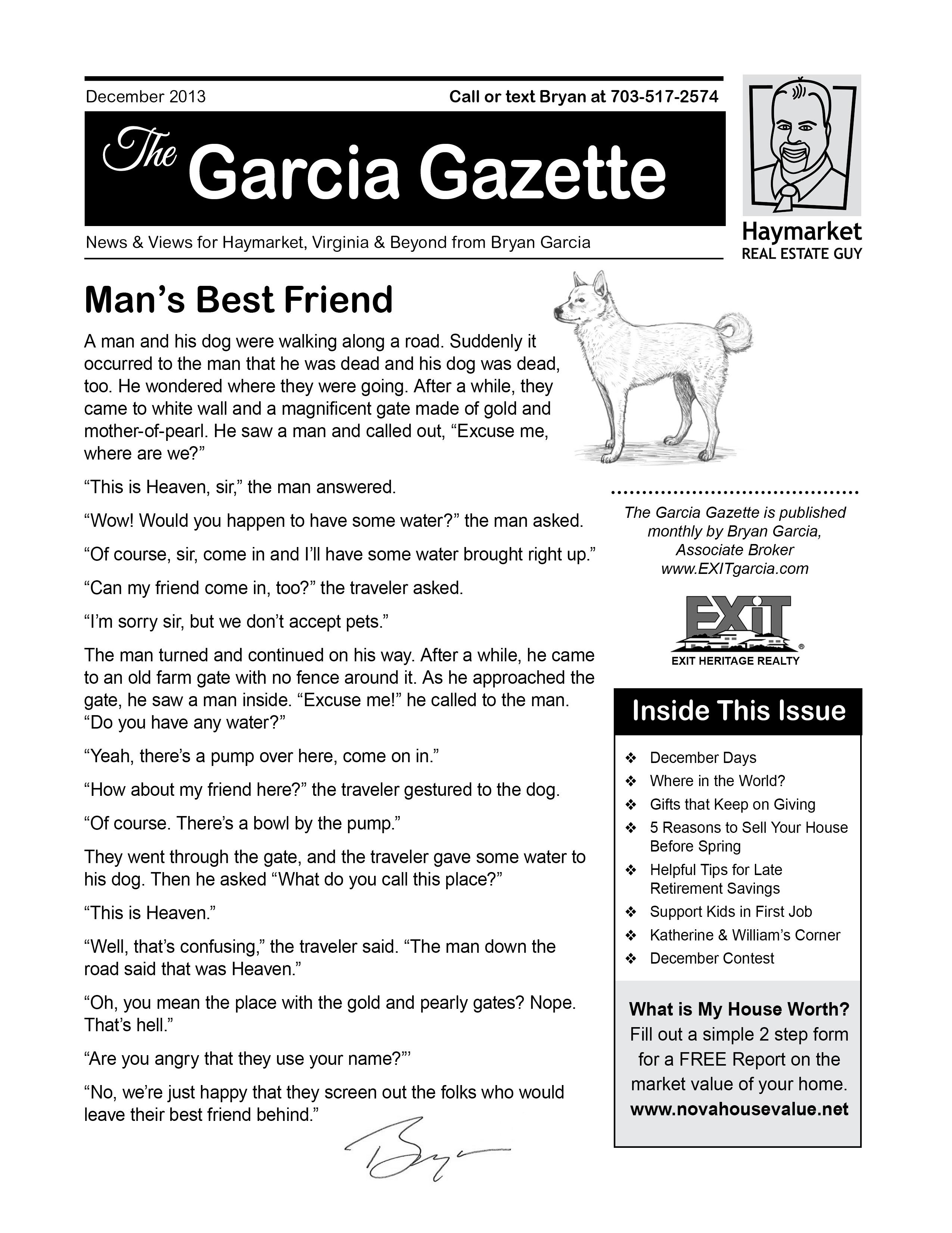 The December 2013 Issue of Garcia Gazette