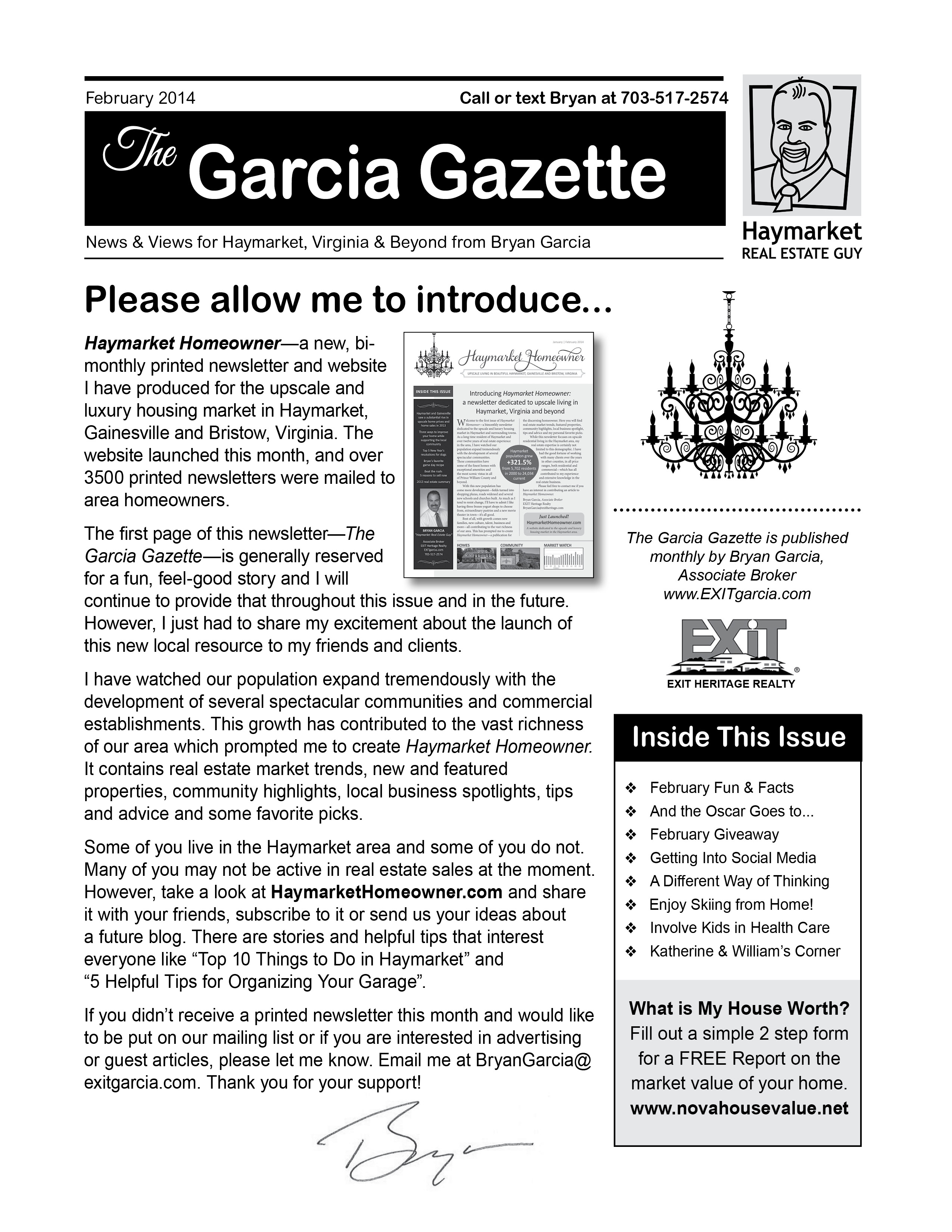 February Issue of Garcia Gazette is Out