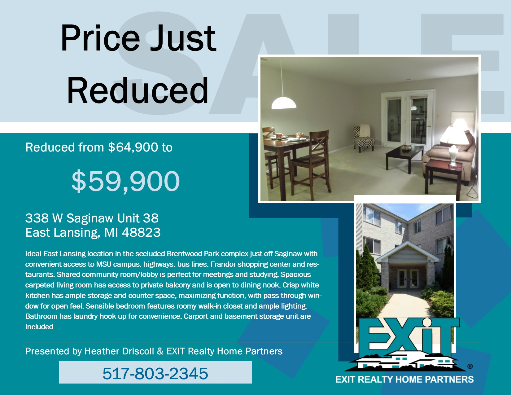 Price Just Reduced - 338 W Saginaw Unit 38