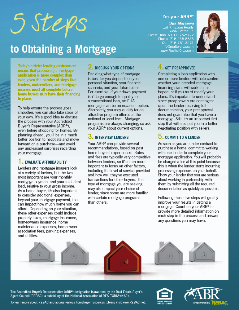 5 Steps to Obtaining a Mortgage