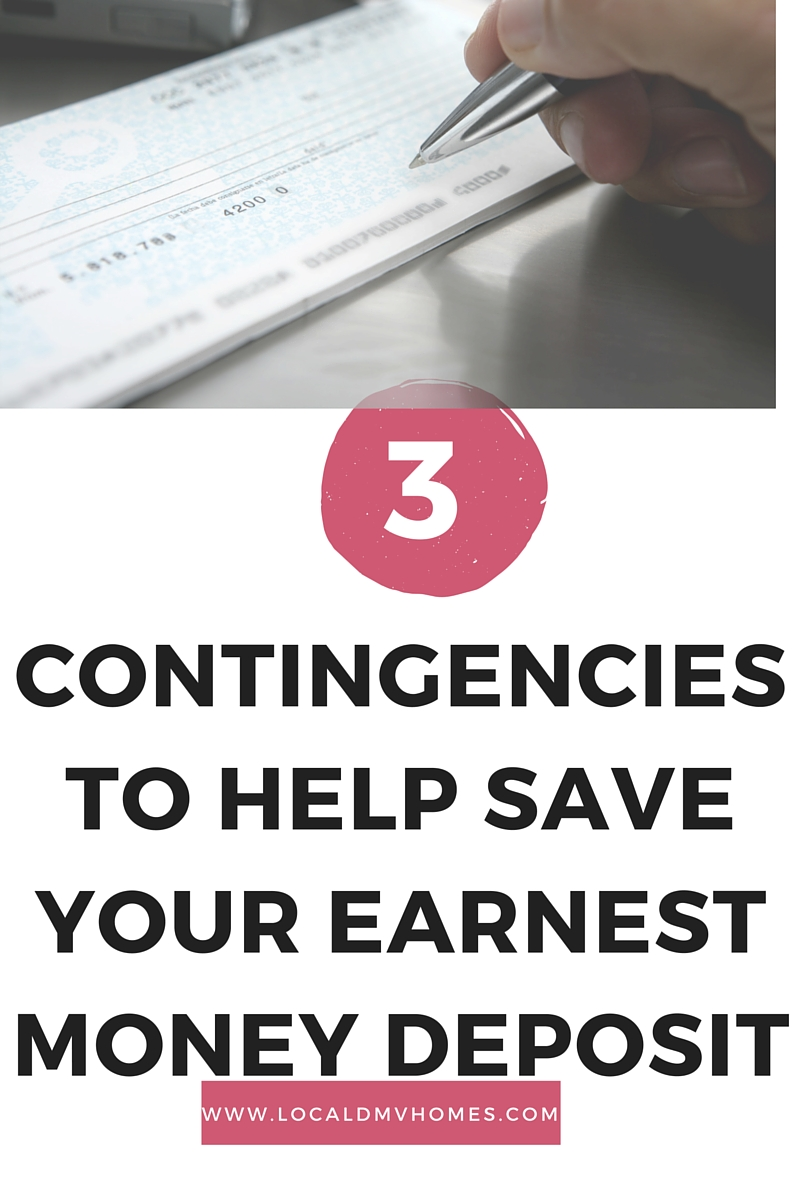 Contingencies to Save your Earnest Money Deposit: Three Basic Tips