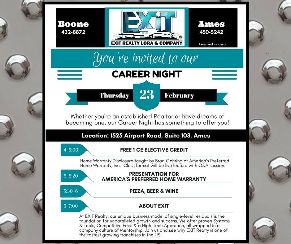 Whether you're an established Realtor or have dreams of becoming one, our Career Night has something to offer you!