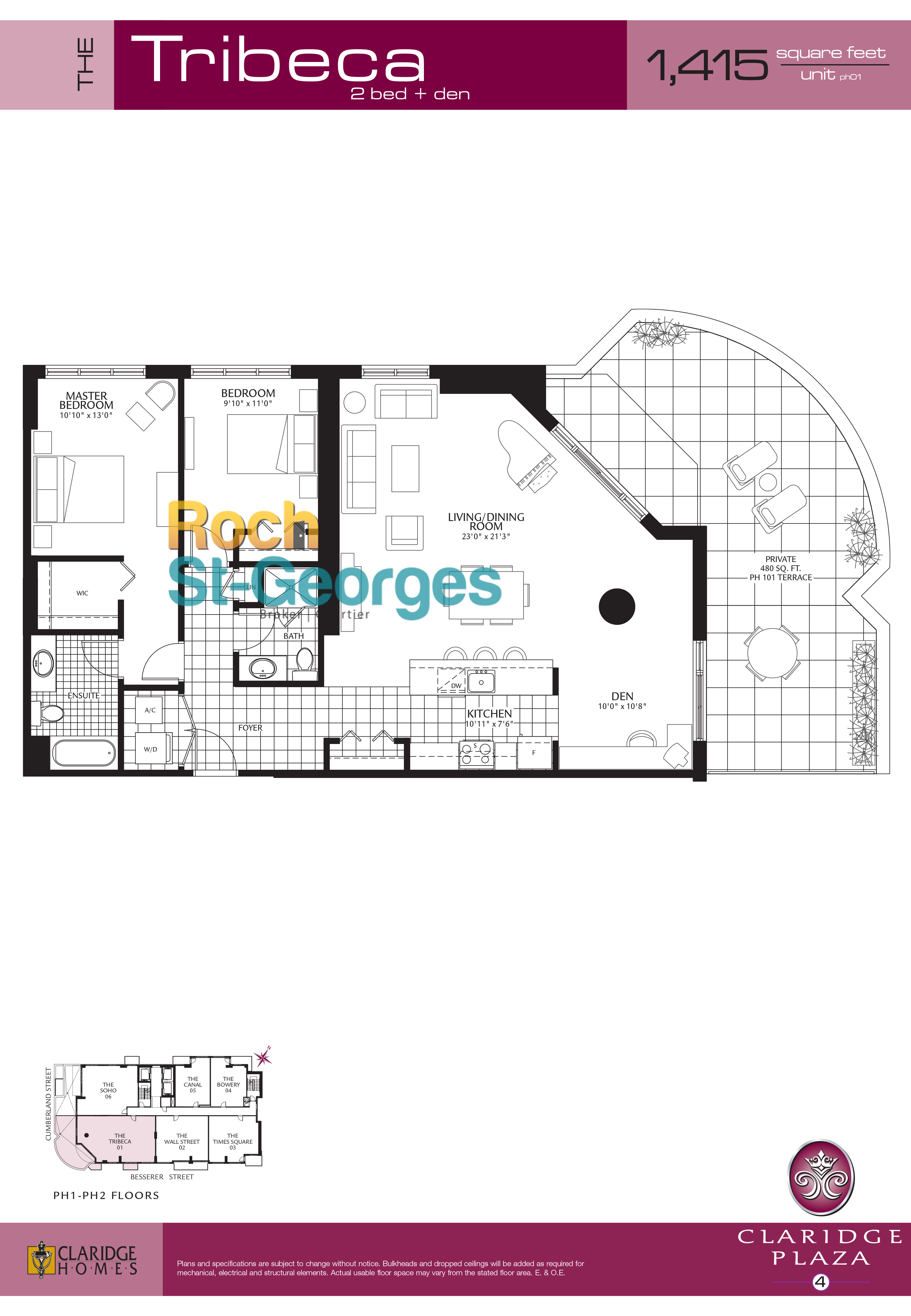 tribeca floorplan claridge