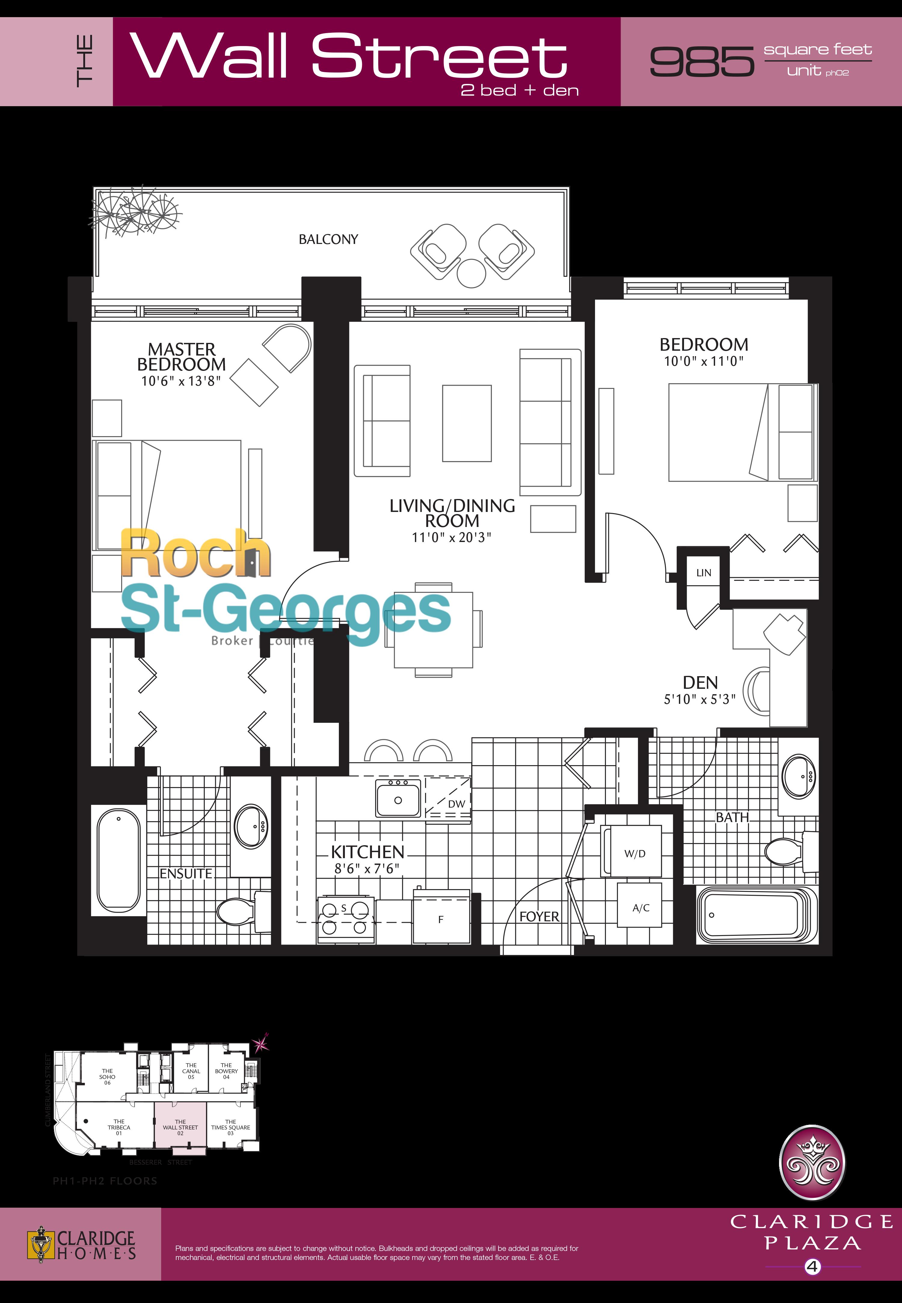wallstreet floorplan claridge