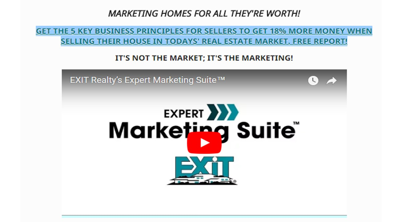 EXIT REALTY'S EXPERT MARKETING SUITE FOR SELLERS