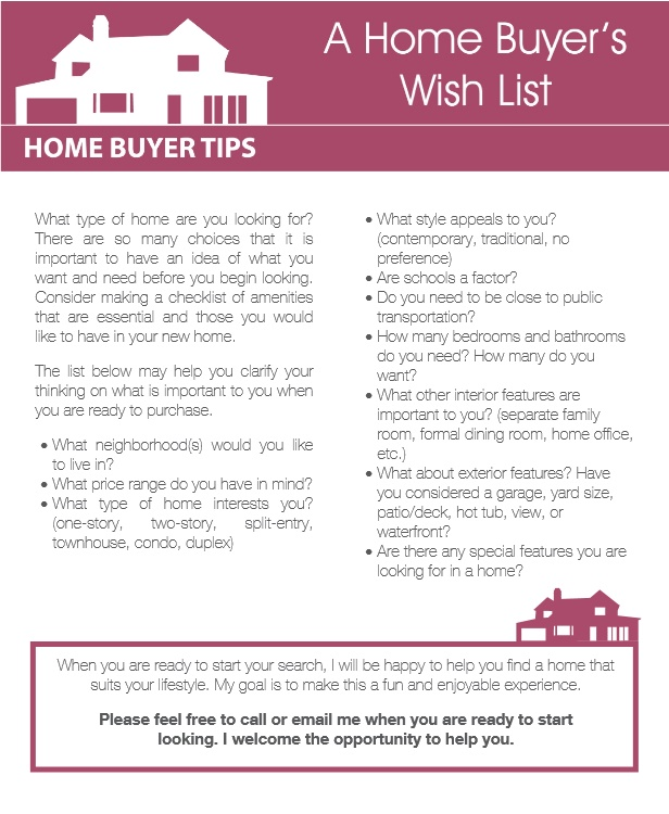 A Home Buyer's Wish List