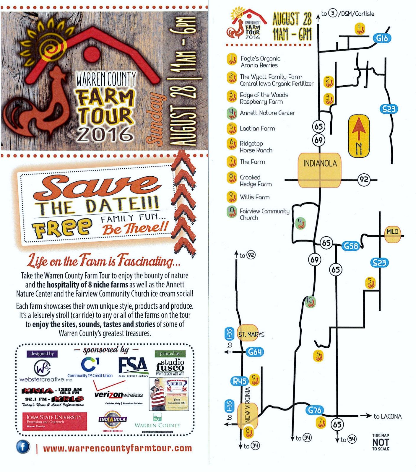 2016 Farm Tour Map