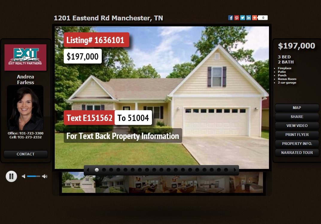 1201 Eastend Road home for sale Manchester TN