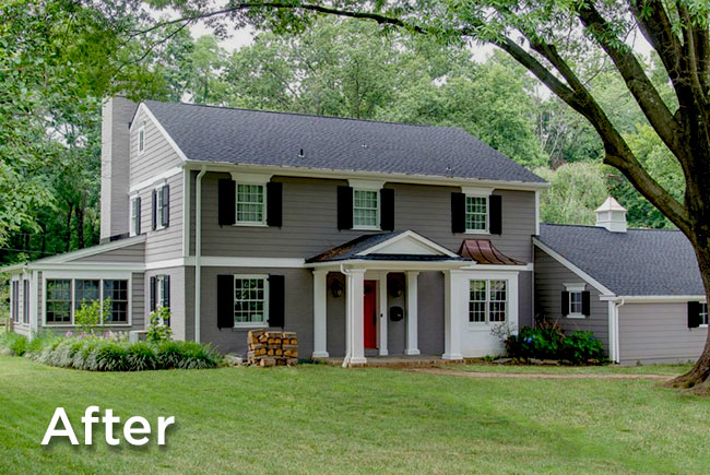 home renovators gave it a complete exterior facelift including: new ...