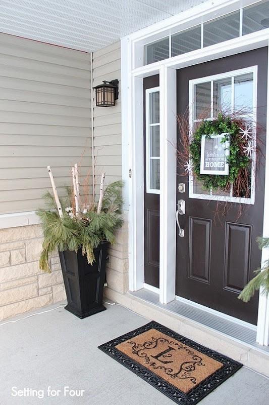 DIY Winter Entryway Potted Plants