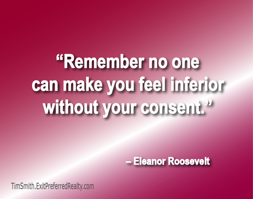 Don't Give Consent to Inferior Feelings