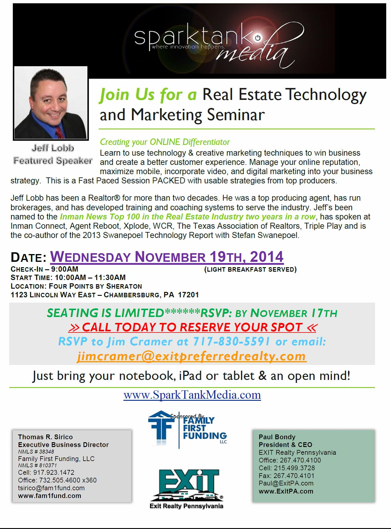 Real Estate Technology and Marketing Seminar