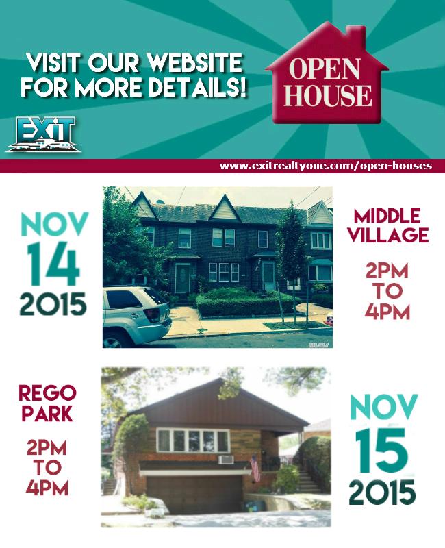 OPEN HOUSE! November 14th & 15th