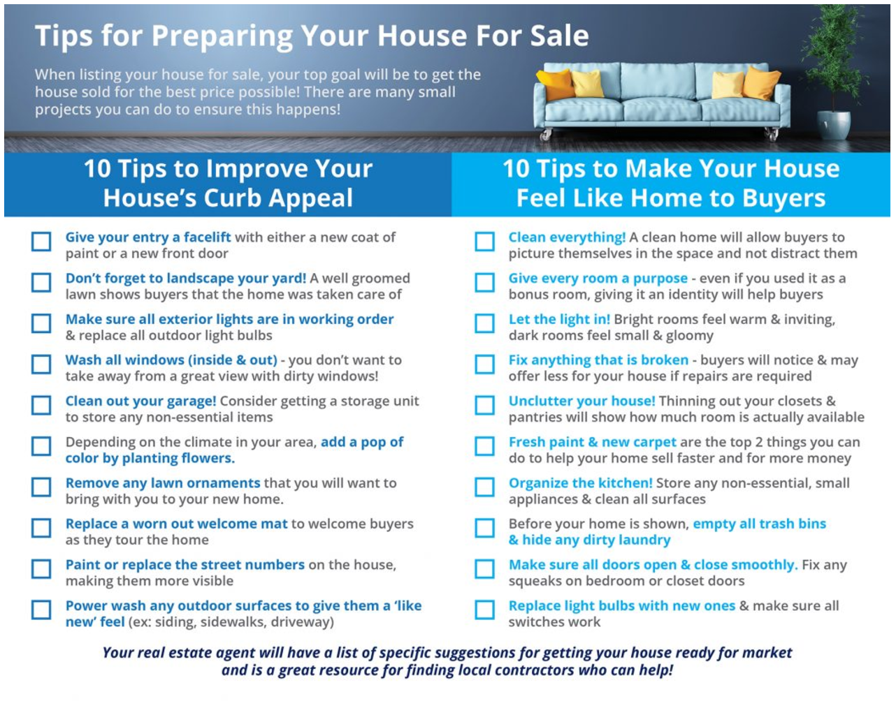 20 Simple Tips for Preparing Your House For Sale [INFOGRAPHIC]