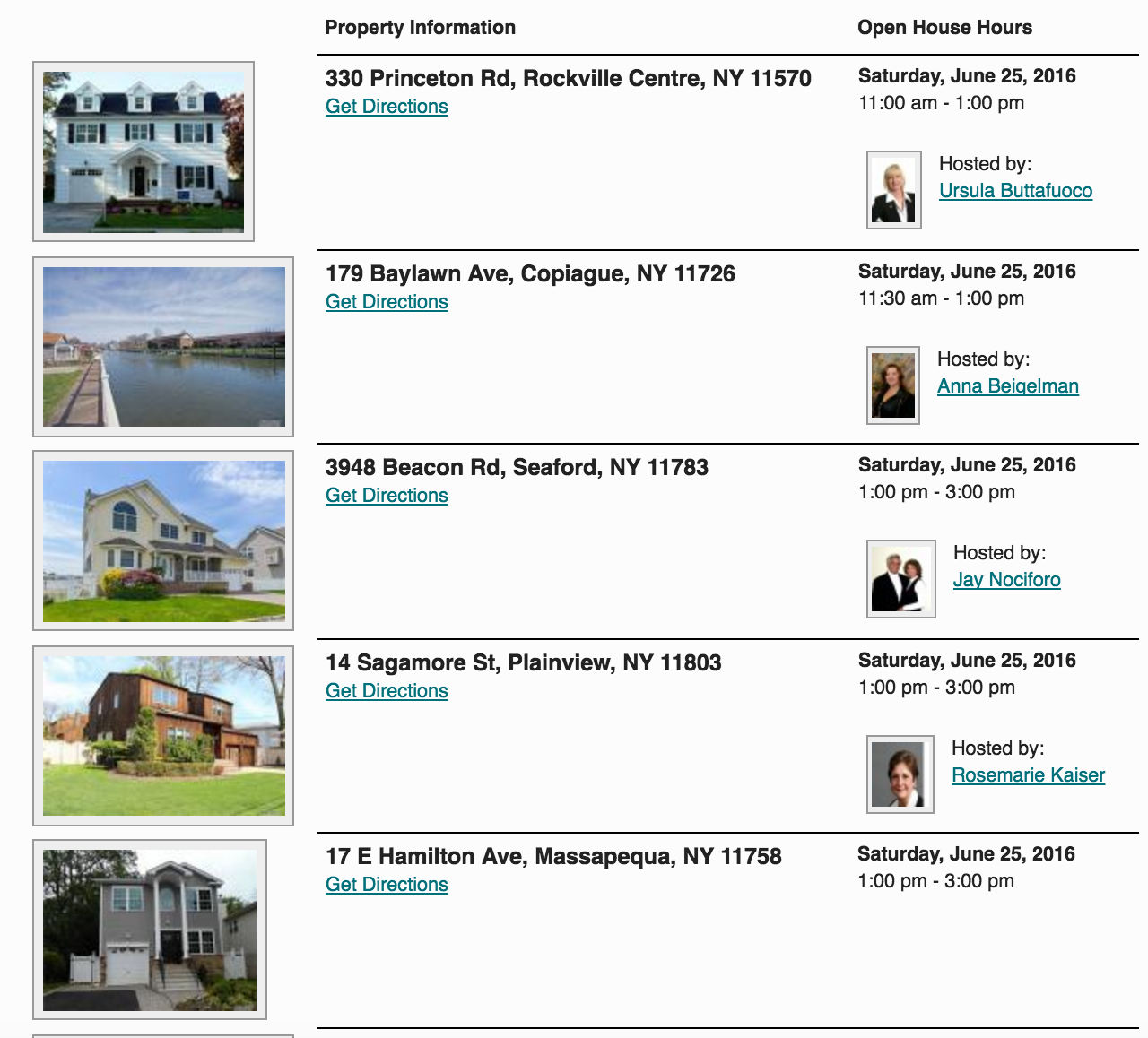 Open Houses This Weekend in Massapequa Park! 6/25 & 6/26