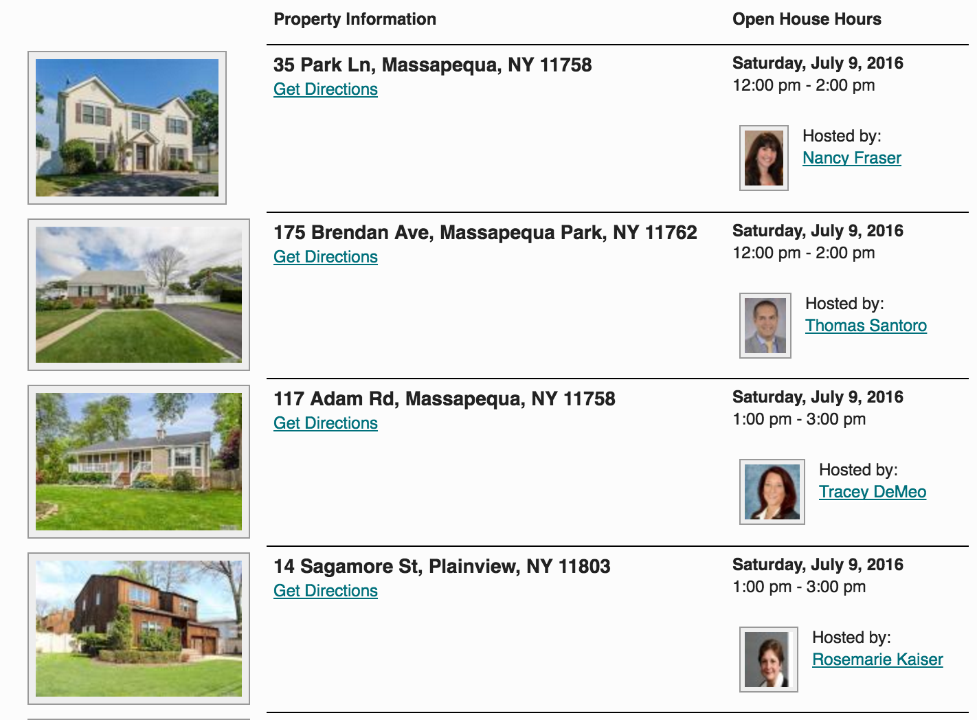 Open Houses This Weekend in Massapequa Park! 7/9 & 7/10