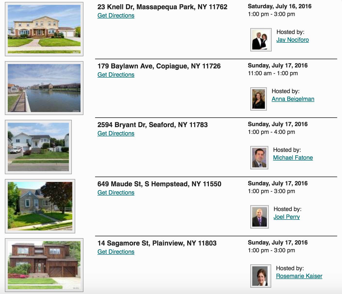Open Houses This Weekend in Massapequa Park! 7/16 & 7/17