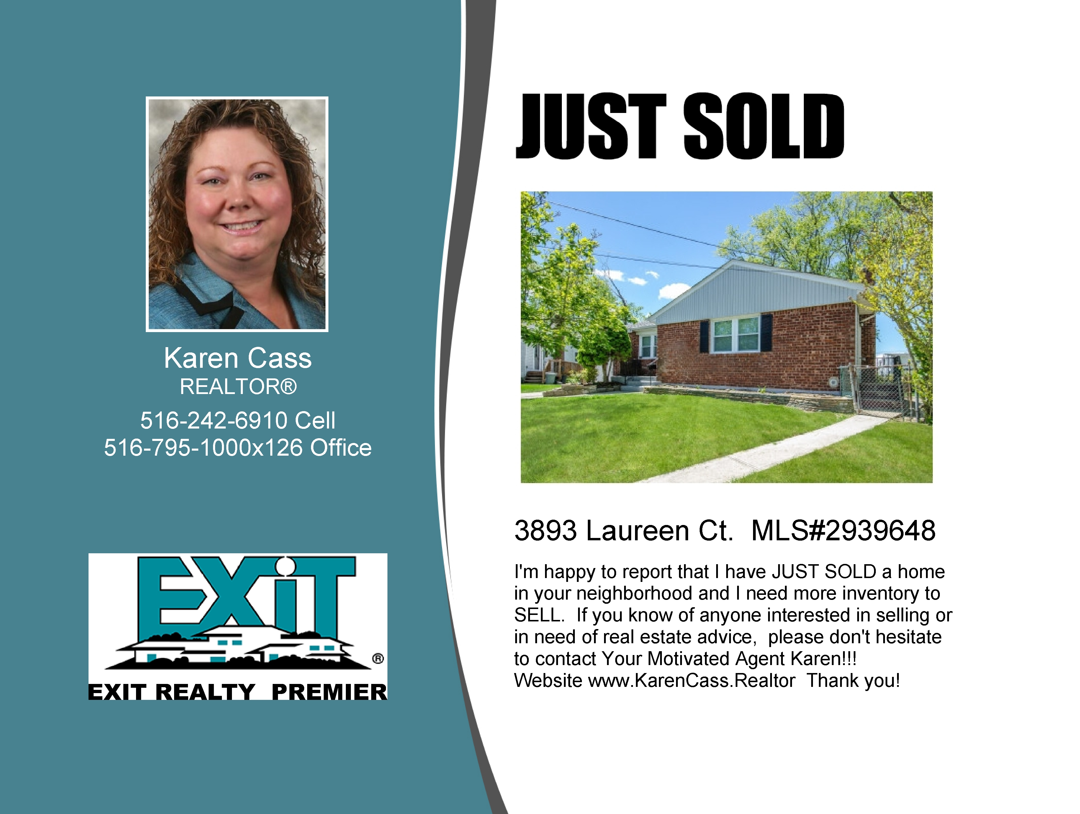 JUST SOLD - Seaford Renovated Ranch in a Cul-De-Sac !!!