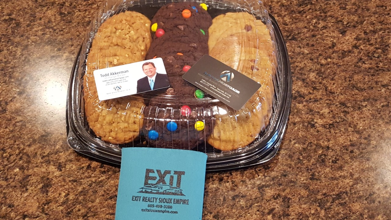 Stop by EXIT Realty Sioux Empire for a cookie!