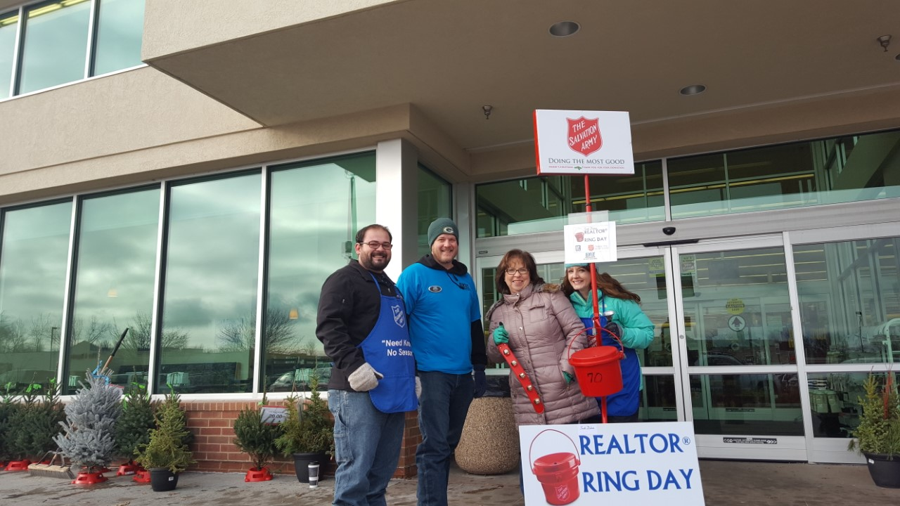EXIT Realty Sioux Empire, and The Salvation Army's Realtor® Ring the Bell Day
