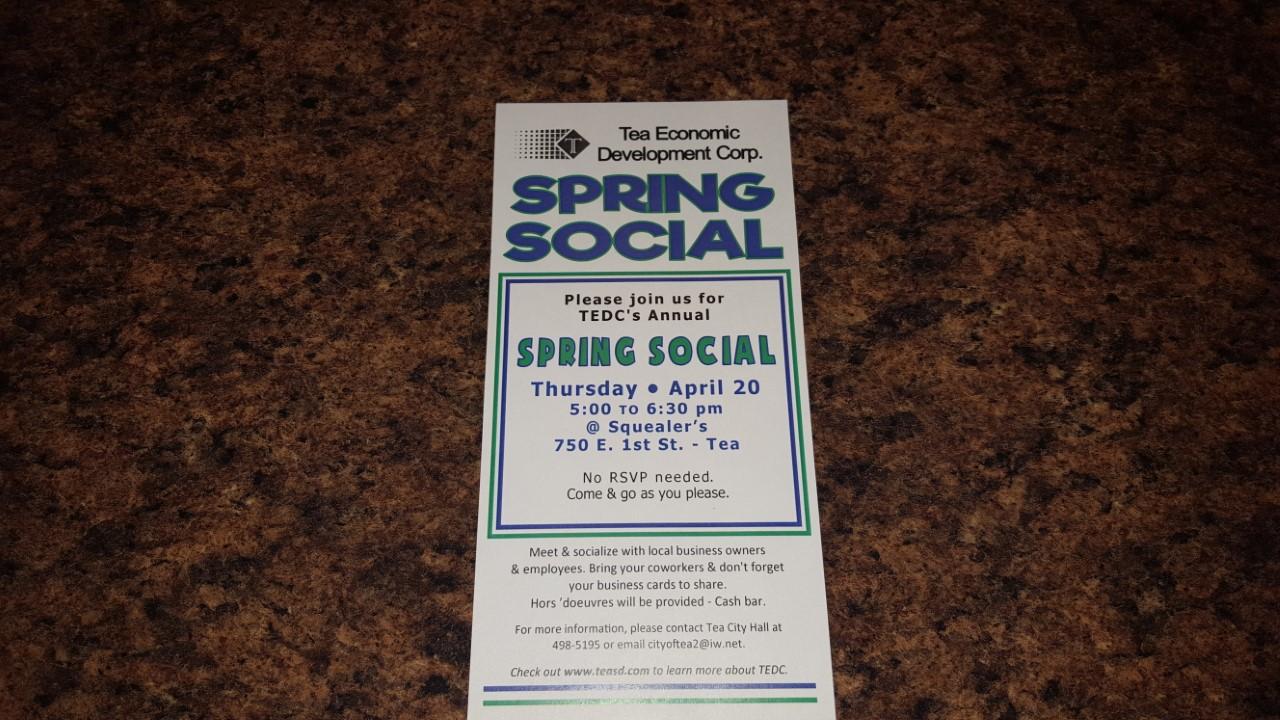 Tea Economic Development Corp Spring Social