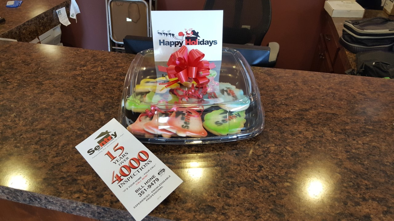 Sentry Home Inspection Delivers Cookies!