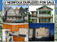 Norfolk VA  Duplexes For Sale