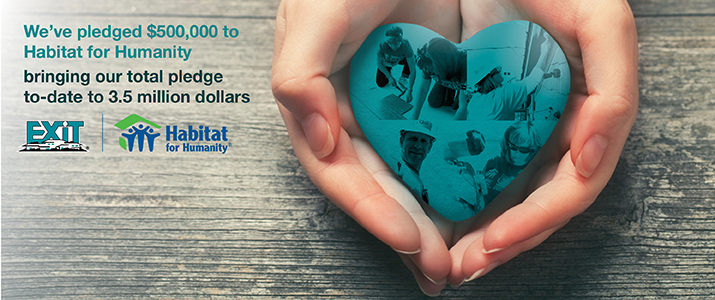EXIT Realty Corp. International Announces Half Million Dollar Pledge to Habitat for Humanity
