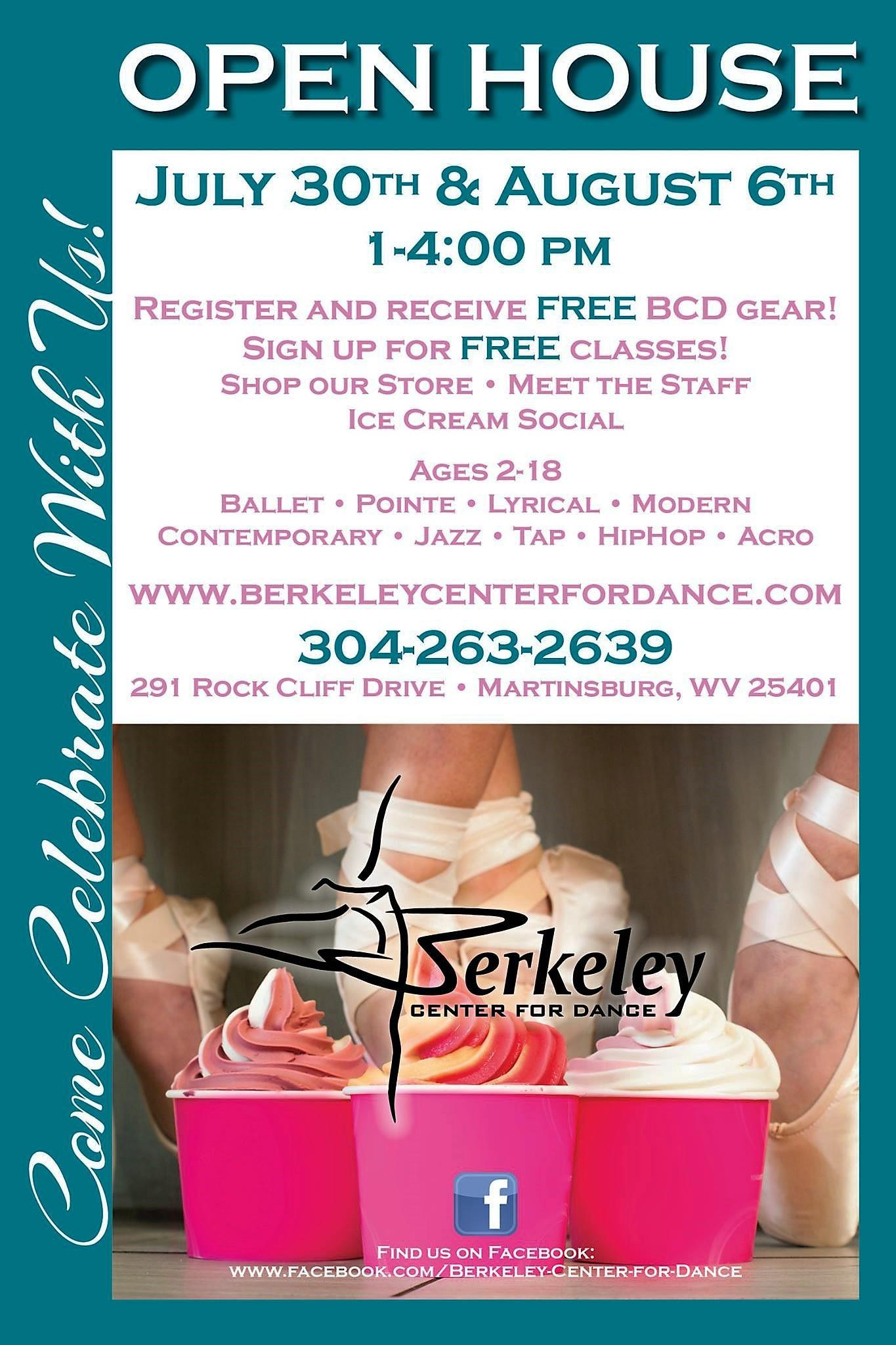 Berkeley Center Dance Open House Info