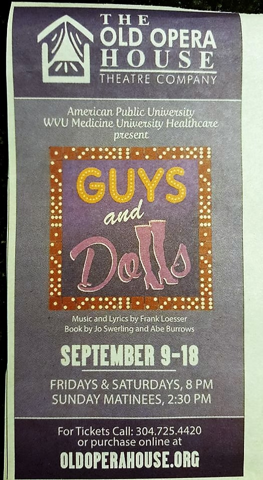 Guys & Dolls Advertisement