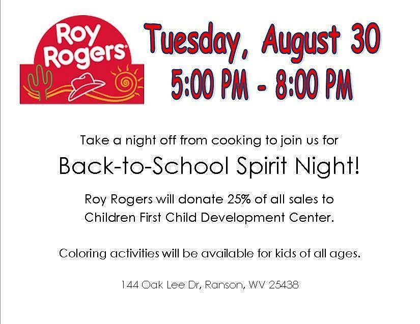 Roy Rogers Spirit Night