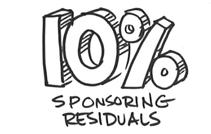 10% Sponsoring Residuals