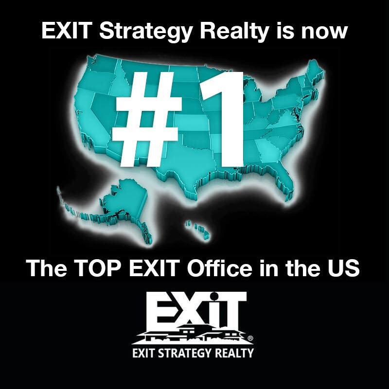 EXIT Strategy Realty named the #1 Exit Realty Office in the USA!