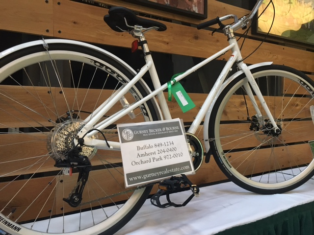 A recent bike donation displayed at an auction at Park School