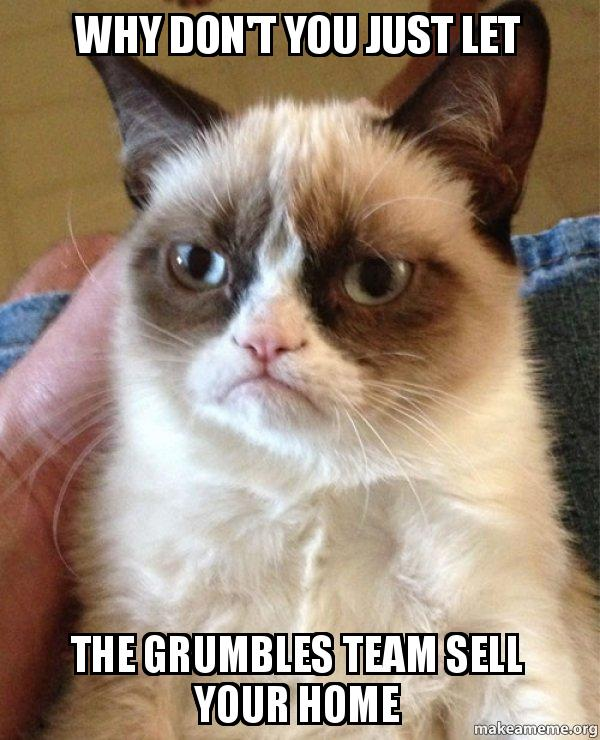 Grumpy Cat - Just let The Grumbles Team Sell Your Home
