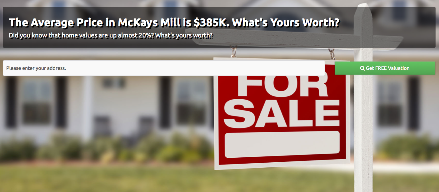 McKays Mill Home Values