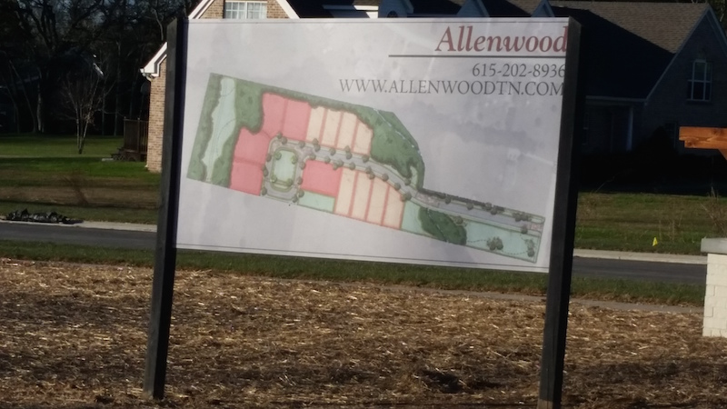 Allenwood subdivision in Thompson's Station homes for sale