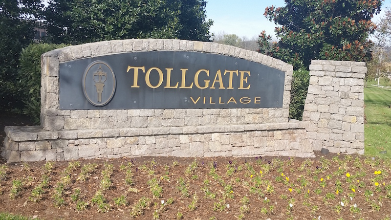 Tollgate Village Subdivision in Thompson's Station TN