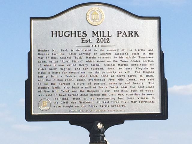 Hughes Mill Park in Berry Farms Community of Franklin